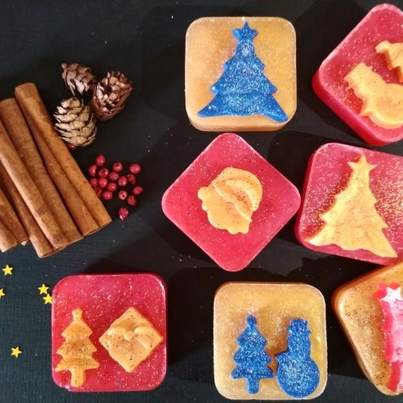 3D Christmas - Σετ 6 Σαπούνια γλυκερίνης